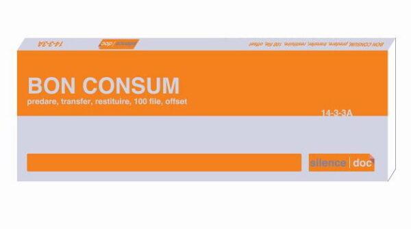 Bon consum predare transfer restituire autocopiativ