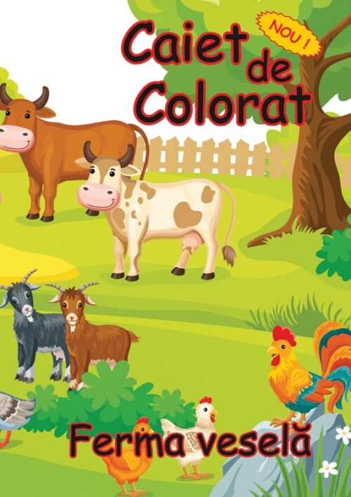 caiet colorat a4 ferma vesela