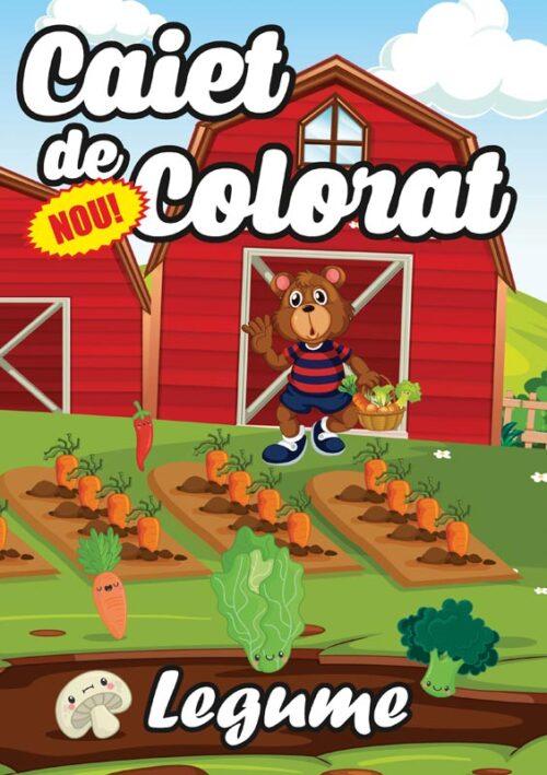 caiet colorat a4 legume