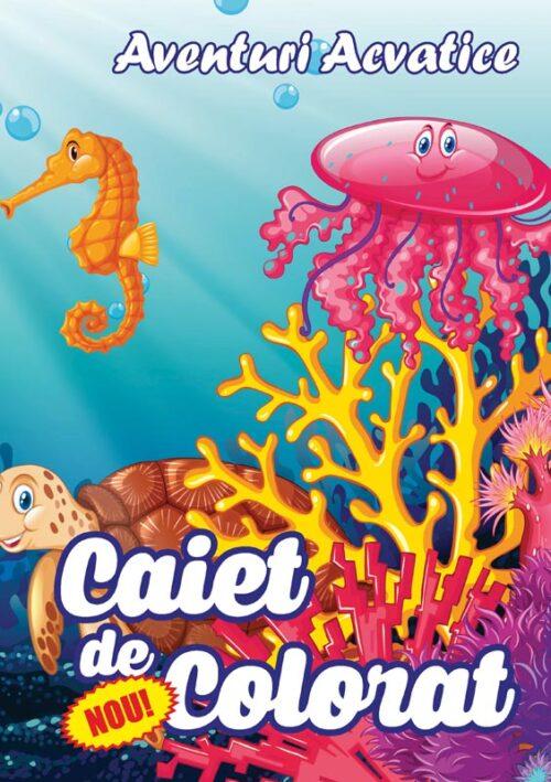 caiet colorat a4 aventuri acvatice