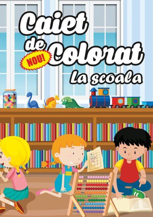 caiet colorat a4 la scoala