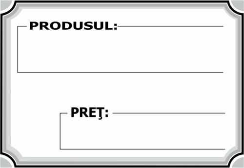 Etichete pret produs